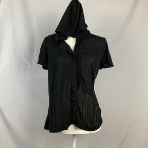 4/$20 Willi Smith Blouse With Hoodie